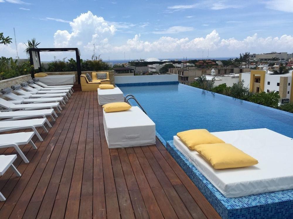 屋顶泳池_城市奢华套房酒店, playa del carmen, 屋顶游泳池