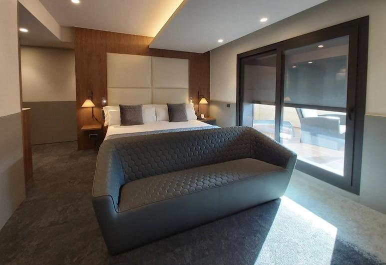 Best Western Premier Hotel Dante, Barcelone, Suite Supérieure, 1 très grand lit, non-fumeurs, terrasse, Chambre