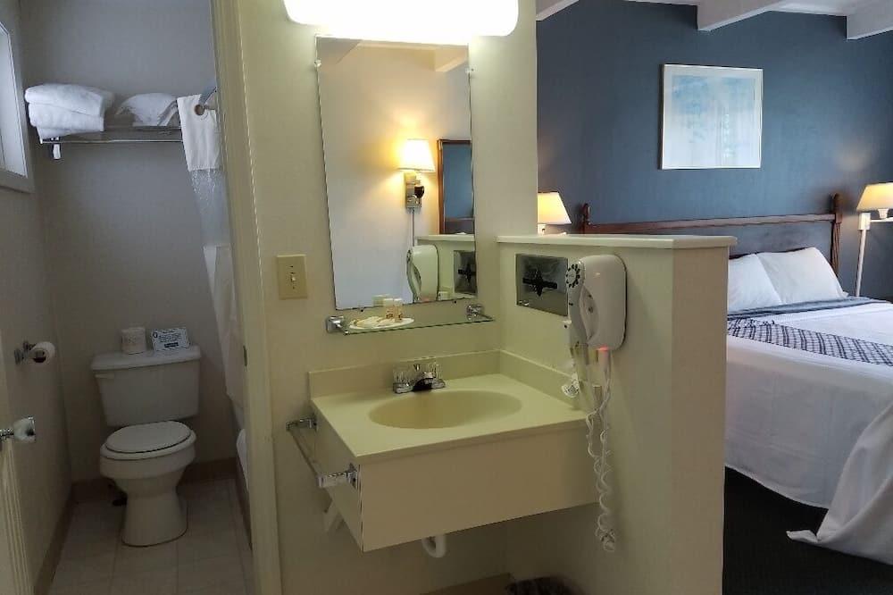 Apartmán, 2 dvojlôžka, nefajčiarska izba, výhľad na jazero - Kúpeľňa