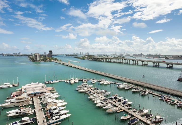 Miami Marriott Biscayne Bay, Miami, Concierge Room, Zimmer, 1King-Bett, Ausblick vom Zimmer