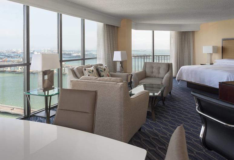 Miami Marriott Biscayne Bay, Μαϊάμι, Junior Σουίτα, 1 Υπνοδωμάτιο, Μη Καπνιστών, Δωμάτιο επισκεπτών