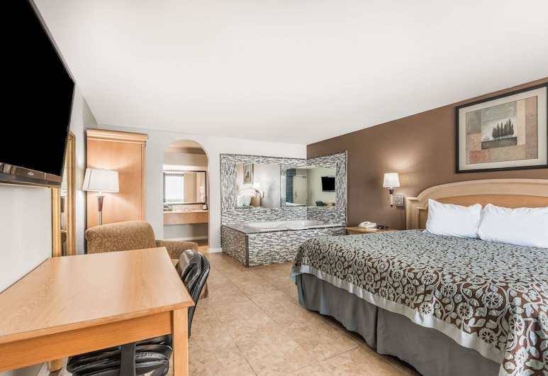 Days Inn by Wyndham New Braunfels, New Braunfels, Deluxe kamer, 1 kingsize bed, roken, Kamer