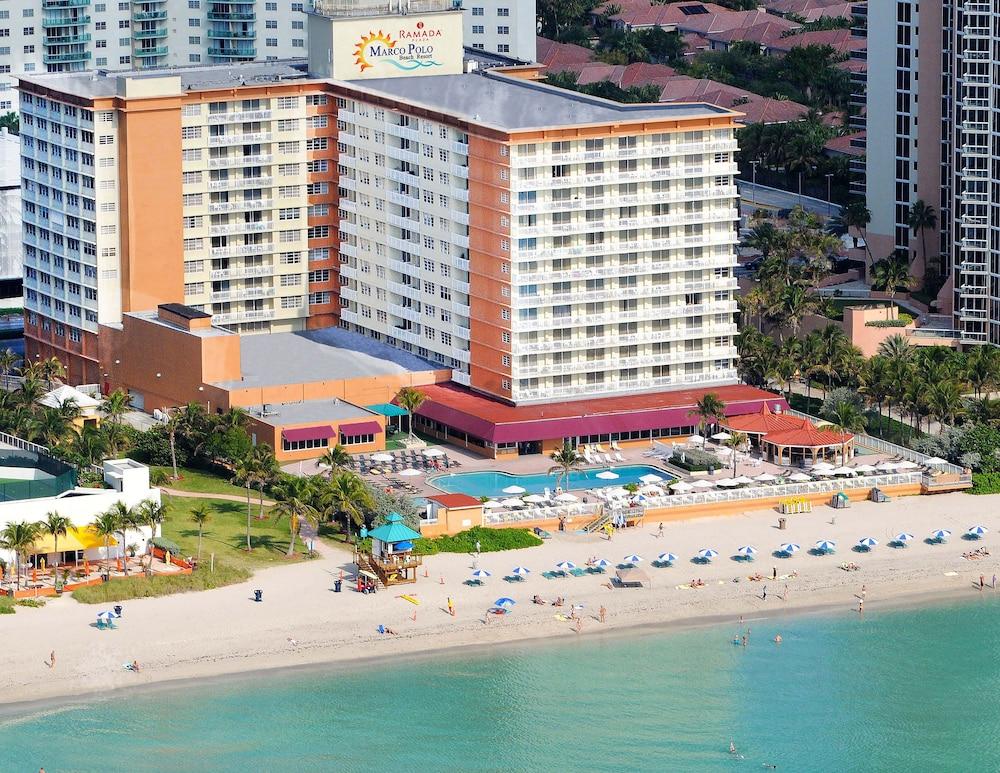 Ramada Plaza Marco Polo Beach Resort Sunny Isles Aerial View