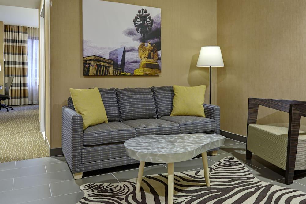 Suite, 2 Queen Beds, Kitchenette - Living Area