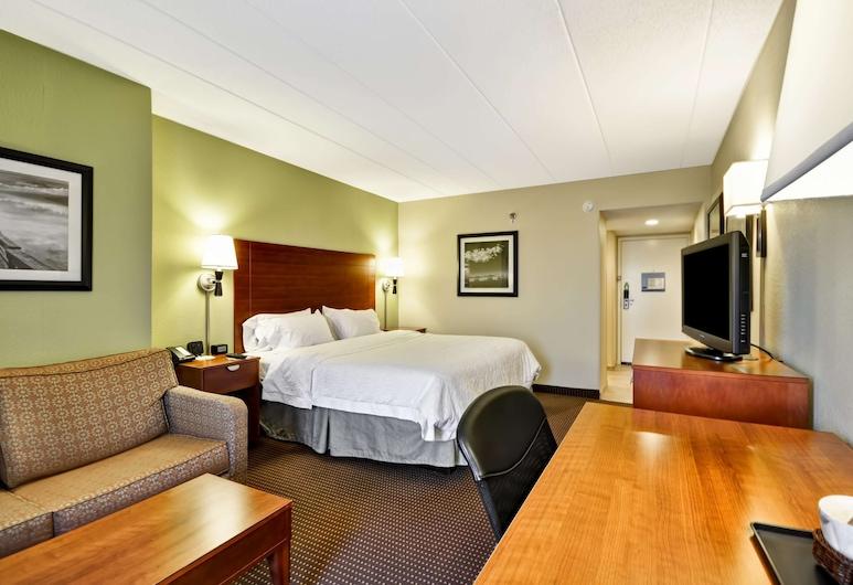 Hampton Inn Chicago - Gurnee, גורני, חדר, מיטת קינג וספה נפתחת, חדר אורחים