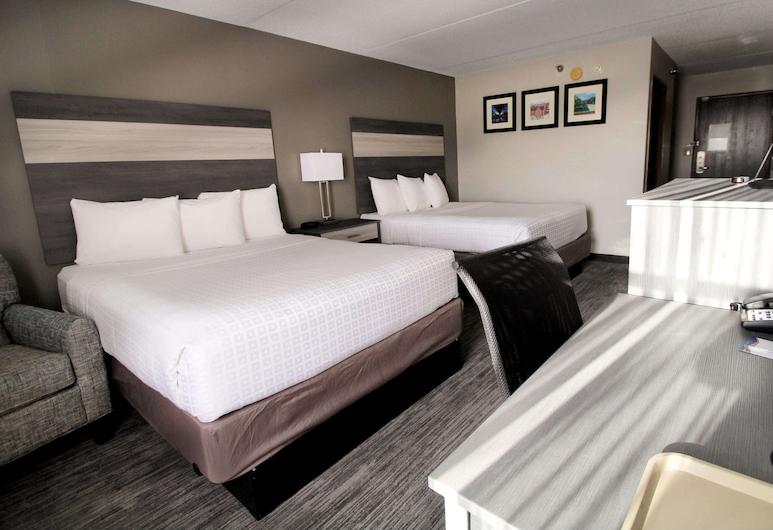 Baymont Inn & Suites by Wyndham Lafayette/Purdue Area, לפאייט, חדר סטנדרט, 2 מיטות קווין, ללא עישון, חדר אורחים