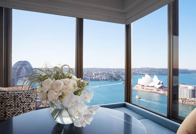 Four Seasons Hotel Sydney, Sydney, Four Seasons, Izba typu Club, 1 extra veľké dvojlôžko, výhľad na prístav, Hosťovská izba