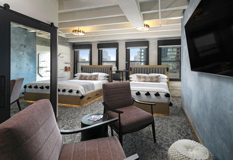 The Wayfarer Downtown LA, Los Angeles, Room, 2 Queen Beds (Skyline, Floor 8+), Guest Room