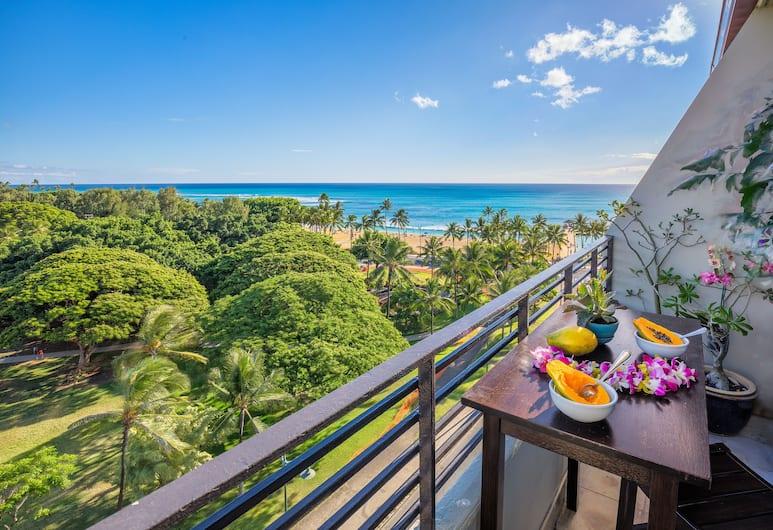 캐슬 와이키키 그랜드 호텔, 호놀룰루, 스튜디오, 간이주방, 바다 전망, 발코니