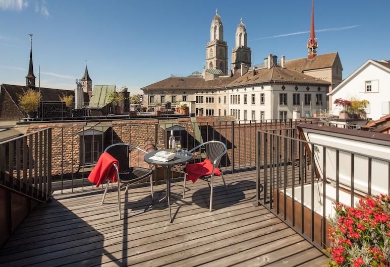 Altstadt Hotel, Zurich, Double Room, Terrace (Rooftop), Teres/Laman Dalam