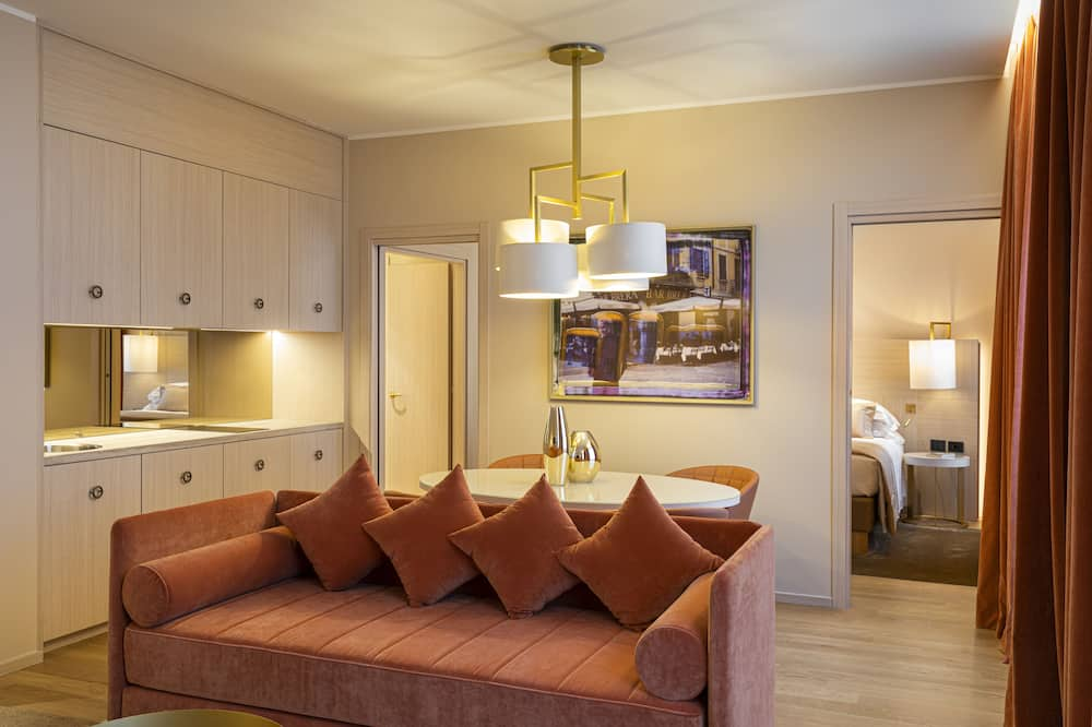 Duomo Apartment One Bedroom - Living Area