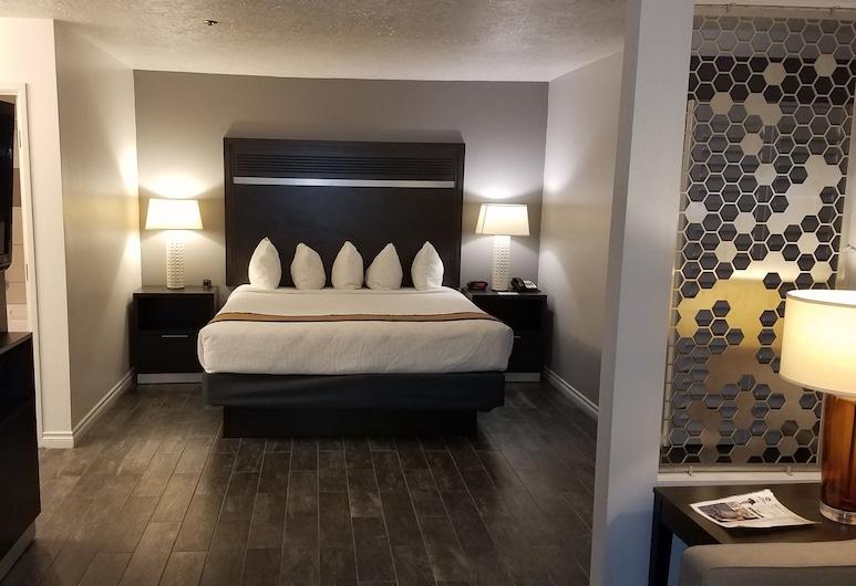 Best Western Corvallis, Corvallis, Suite, 1 cama king-size, Não-fumadores, Frigorífico e Micro-ondas (Pet Friendly;with Sofabed), Quarto