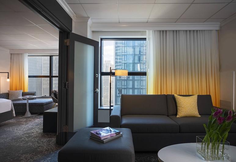 Renaissance New York Times Square Hotel, Nova York, Suíte executiva, 1 quarto, para não fumantes, Quarto