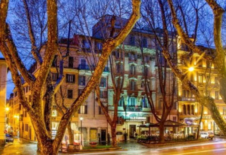 Hotel Alexandra, Rome, Hotel Front – Evening/Night