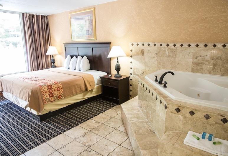 Florence Express Inn, פלורנס, סוויטת דה-לוקס, מיטת קינג, אמבט זרמים, חדר אורחים