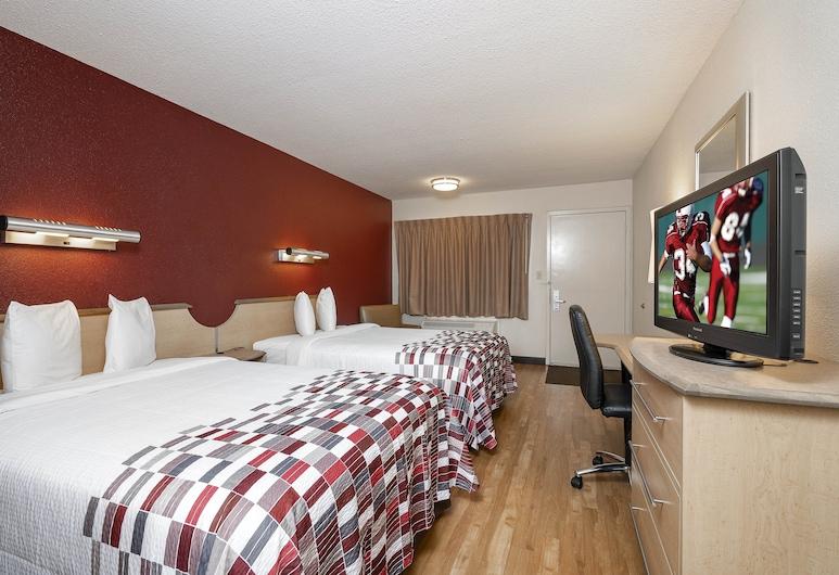 Red Roof Inn Greenville, גרינוויל, חדר סטנדרט, 2 מיטות זוגיות, ללא עישון, חדר אורחים