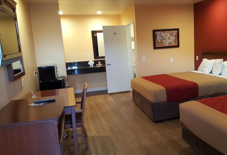Rodeway Inn Carson - Los Angeles South, קרסון, חדר סטנדרט, 2 מיטות קווין, ללא עישון, חדר אורחים