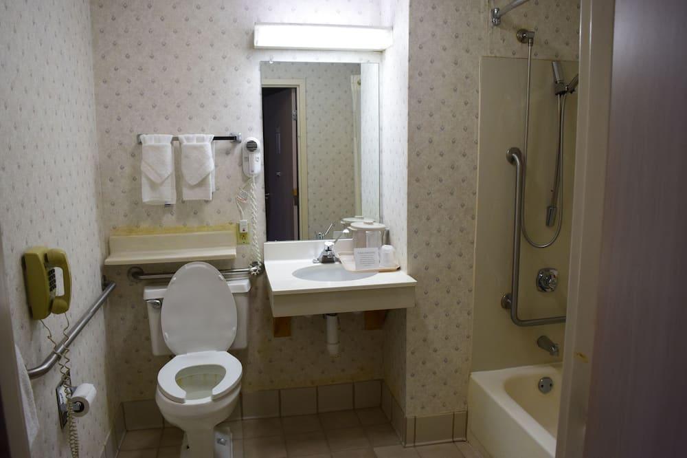 Kambarys, 1 labai didelė dvigulė lova, su patogumais neįgaliesiems, Nerūkantiesiems - Vonios kambarys