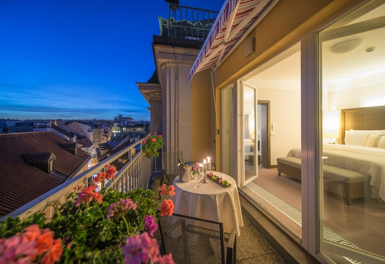 Grand Hotel Bohemia, Prague, Suite, Balcony, Balcony
