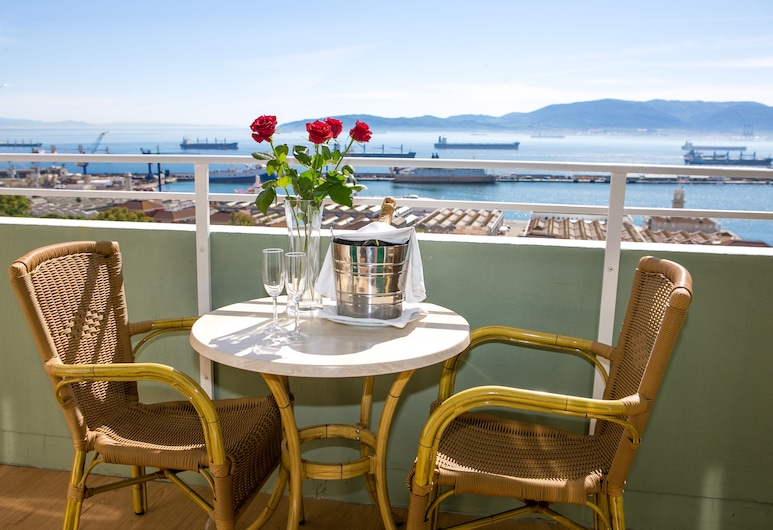 The Rock Hotel, Gibraltar, Double Room, Balcony, Sea View, Guest Room