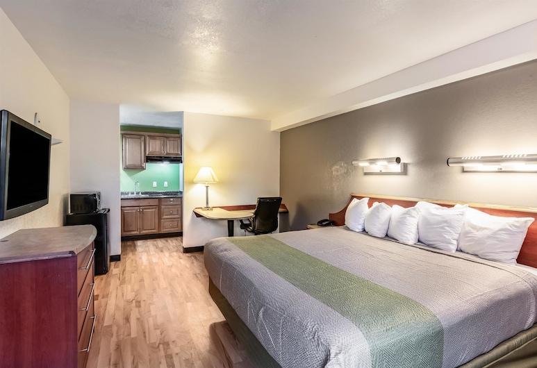 ستوديو 6 آناهايم، كاليفورنيا, أناهاي, غرفة ديلوكس - سرير ملكي - تجهيزات لذوي الاحتياجات الخاصة - لغير المدخنين, غرفة نزلاء