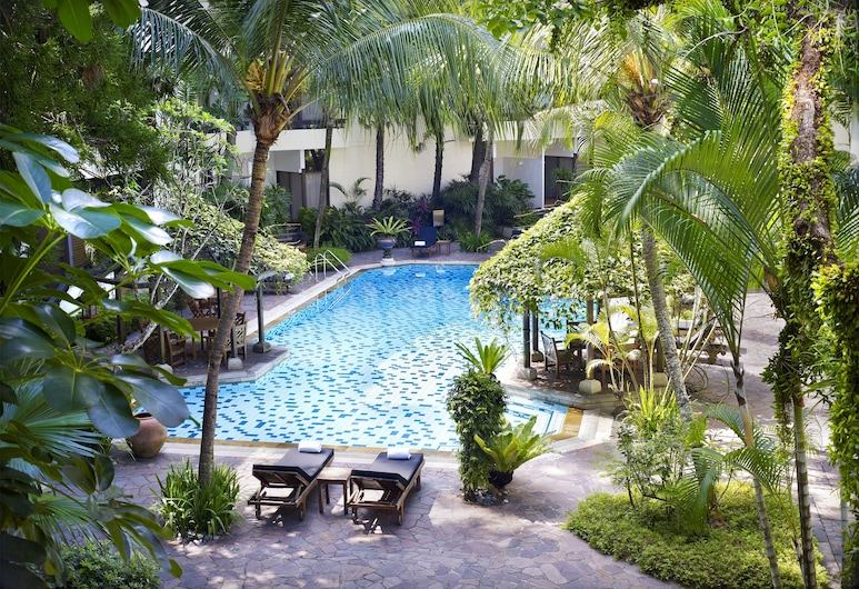 Goodwood Park Hotel, Singapur, Deluxe-Zimmer, Poolseite, Pool