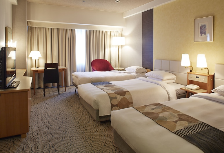 Hotel New Otani Hakata, Fukuoka, Standard szoba két külön ággyal (with extra bed), Vendégszoba