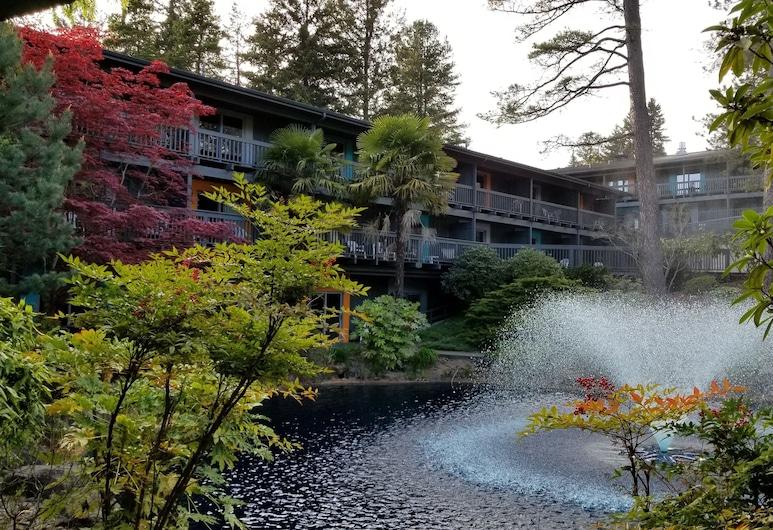 Shilo Inn Hotel & Suites - Portland/Beaverton, Beaverton, Soba, 2 queen size kreveta, pogled na dvorište, Terasa/trijem