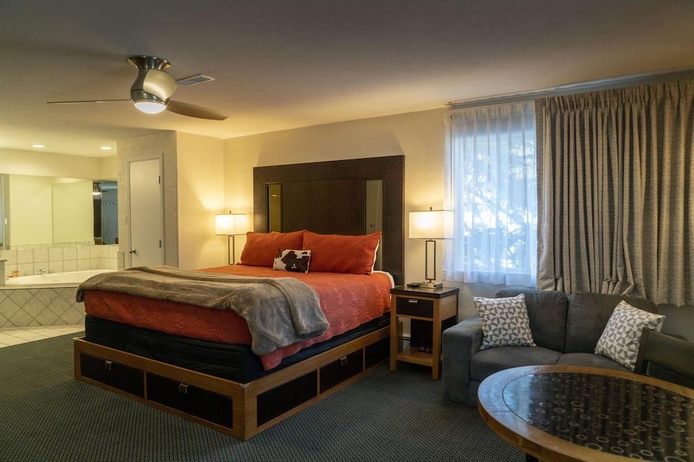 Apartmán typu Deluxe, 1 extra veľké dvojlôžko, masážna vaňa - Hosťovská izba