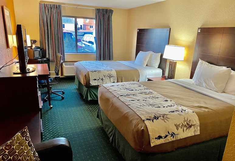 Economy Inn & Suites Cedar Rapids, Cedar Rapids, Quarto Duplo Standard, 2 camas queen-size, Quarto