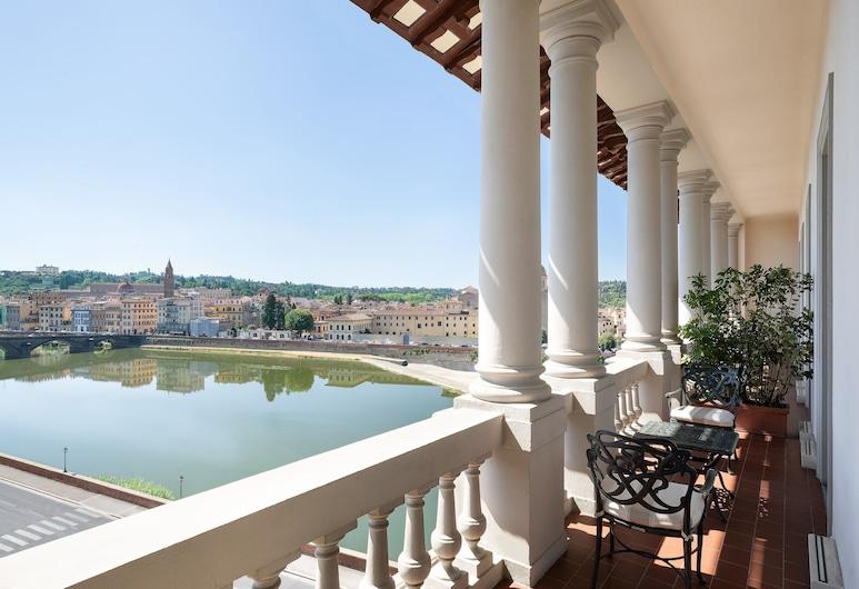 The St. Regis Florence, Florence, Suite Présidentielle, 1 très grand lit, non-fumeurs, vue fleuve, Chambre