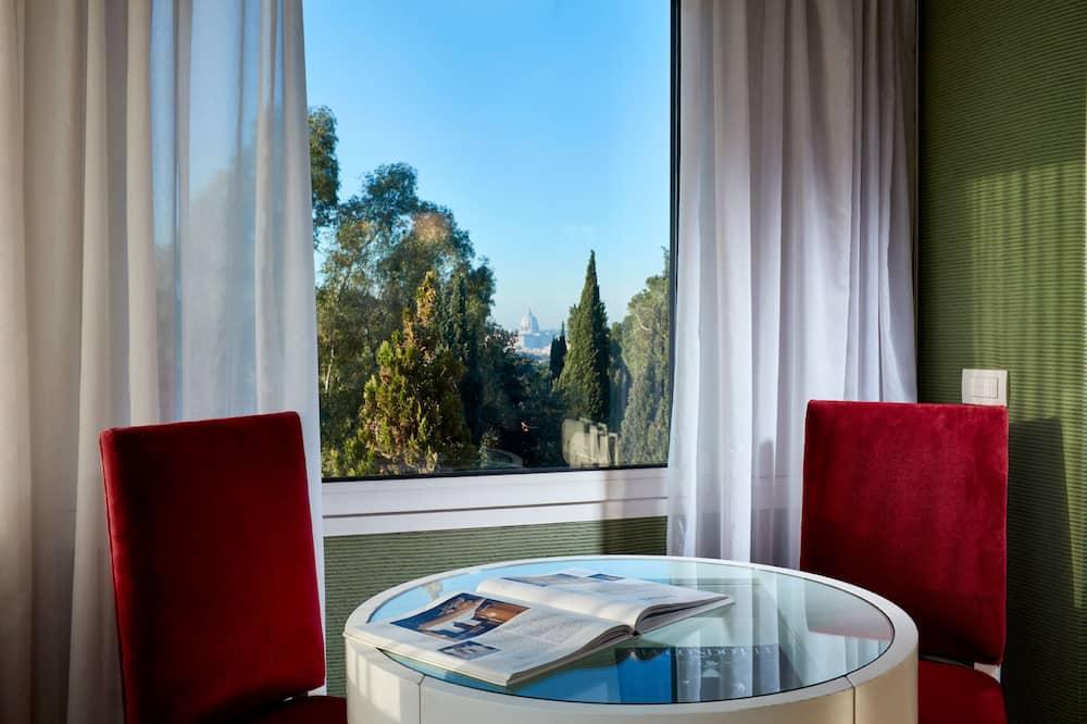 Suite panorámica, 1 habitación, terraza, vista al parque - Habitación