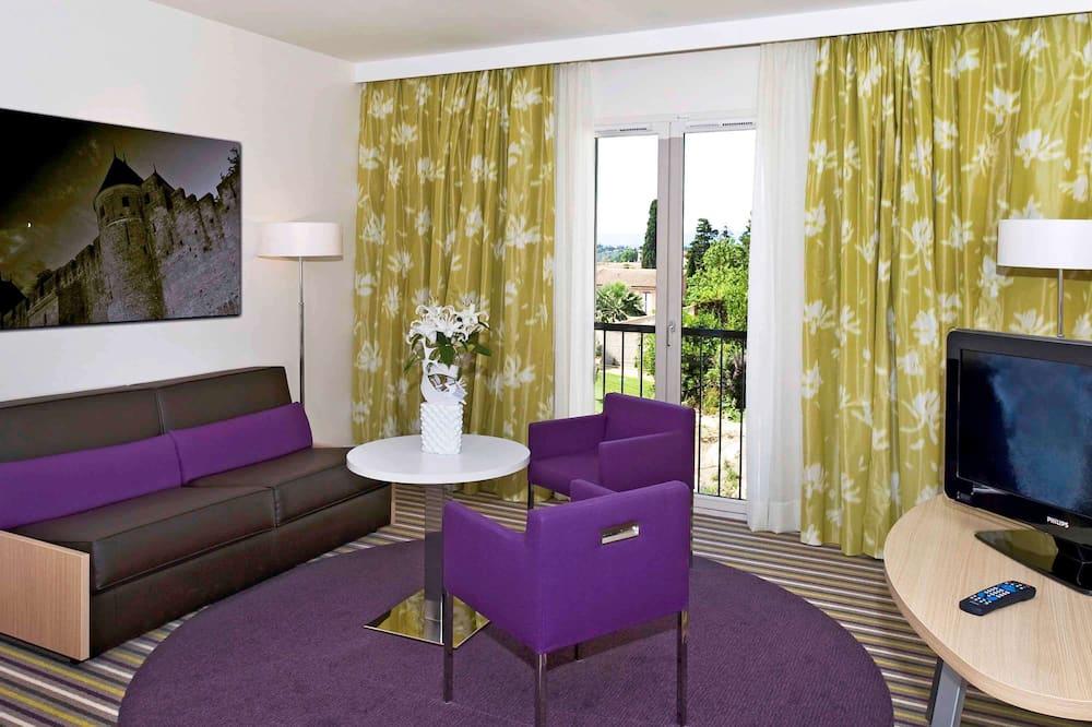Privilege, Premium tweepersoonskamer, 1 tweepersoonsbed met slaapbank - Woonkamer