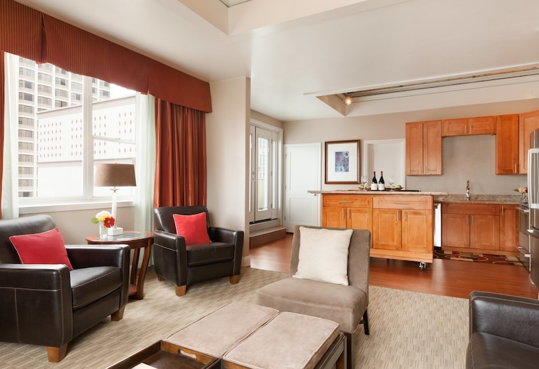 Executive Hotel Vintage Court, San Francisco, Sviit, 1 magamistoaga, köögiga, Lõõgastumisala