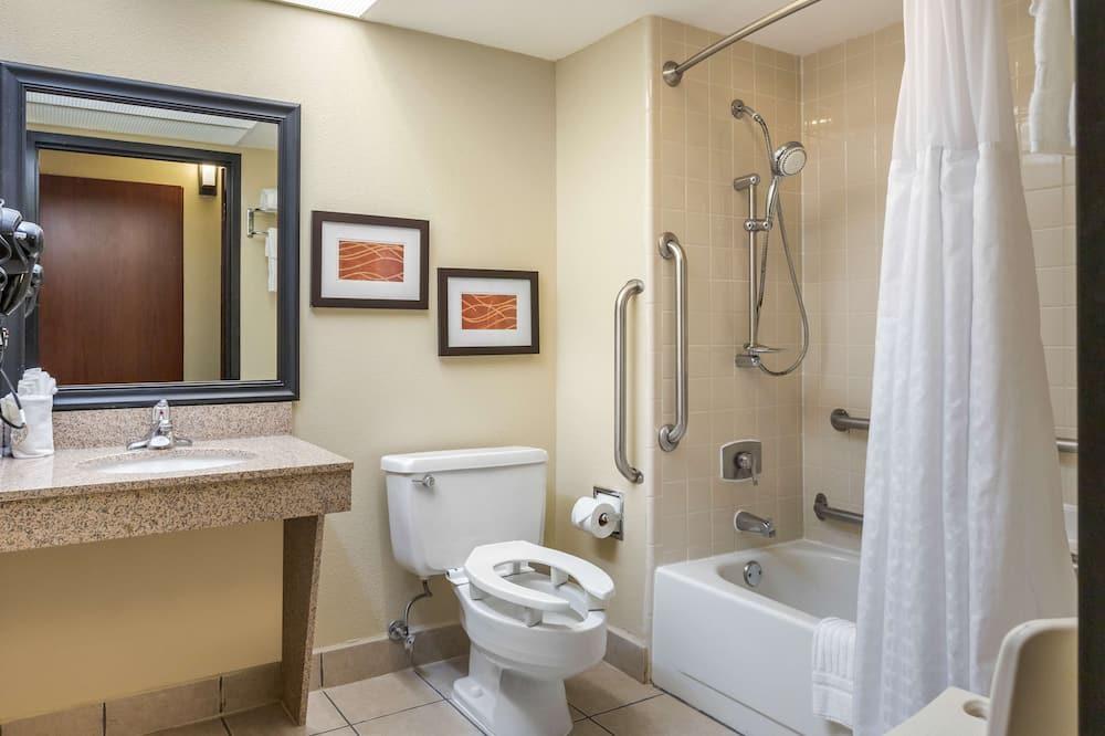 Quarto Standard, 1 cama king-size, Acessível, Não-fumadores (Accessible Bathtub) - Casa de banho