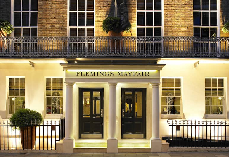 Flemings Mayfair, London, Hotel Front – Evening/Night