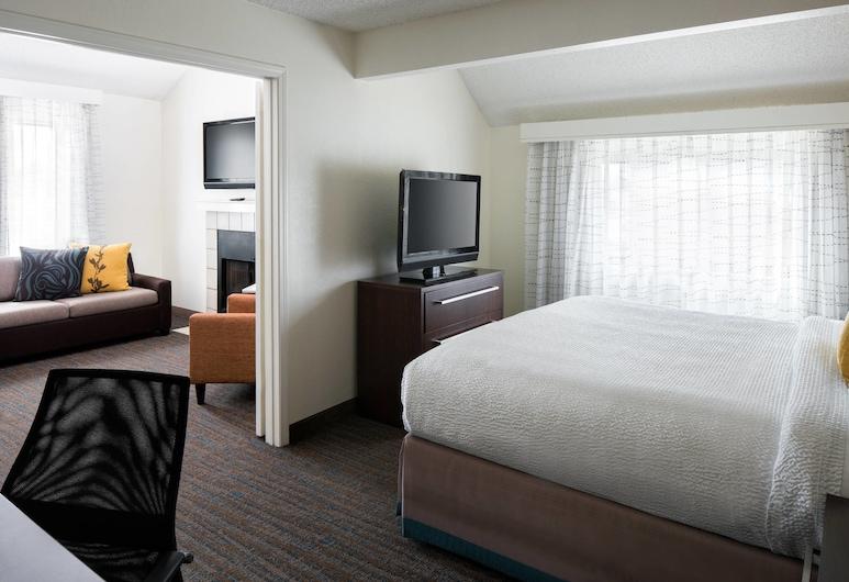 Residence Inn by Marriott Costa Mesa Newport Beach, Costa Mesa, Apartmá, 2 ložnice, nekuřácký, krb, Pokoj