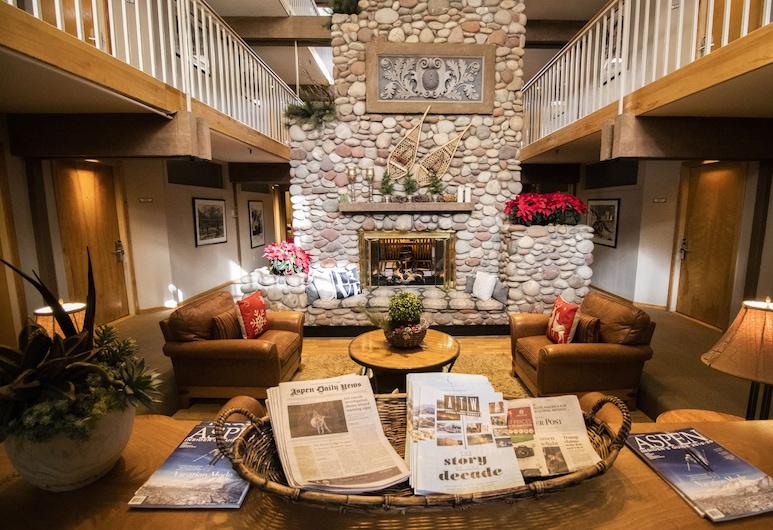 Aspen Mountain Lodge, Aspen, Hotellin lounge