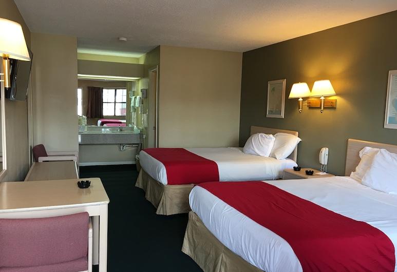Americas Best Value Inn Meridian, Meridian, Quarto, 2 camas queen-size, Fumadores, Quarto