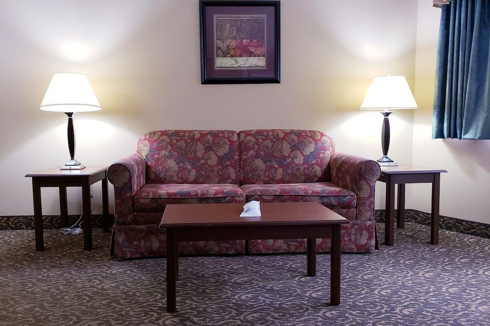 Suite, 1 cama King size, para no fumadores, bañera de hidromasaje - Sala de estar