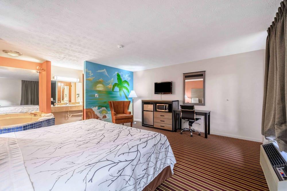 Phòng Suite, 1 giường cỡ king, Hút thuốc (Whirlpool) - Bồn tắm spa riêng