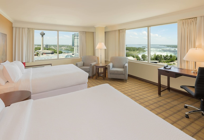 Four Points by Sheraton Niagara Falls Fallsview, Niagara Falls, Zimmer, 2Queen-Betten, Nichtraucher, Ausblick, Ausblick vom Zimmer