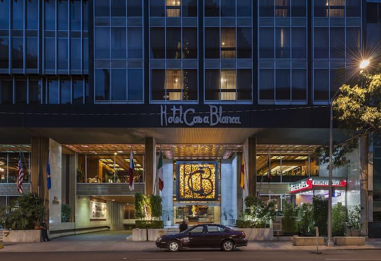 Hotel Casa Blanca, Mexico City, Fasada hotelu — wieczorem/nocą
