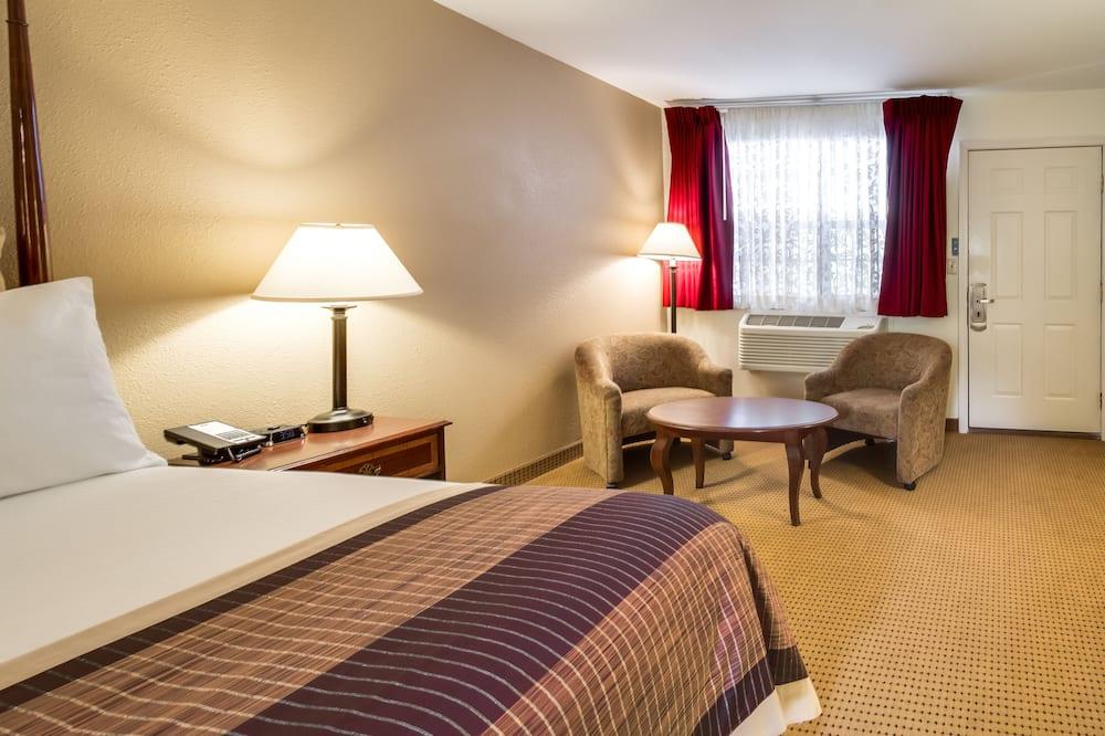 Kambarys, 1 labai didelė dvigulė lova, pirmas aukštas - Svetainė