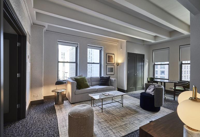 Raffaello Hotel, Chicago, Design sviit, 2 magamistoaga, Lõõgastumisala