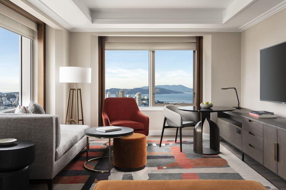 Номер-люкс, 1 ліжко «кінг-сайз», обладнано для інвалідів, кутовий номер (Golden Gate View) - Житлова площа