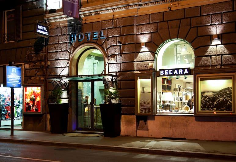 호텔 디플로매틱, 로마, 호텔 정면