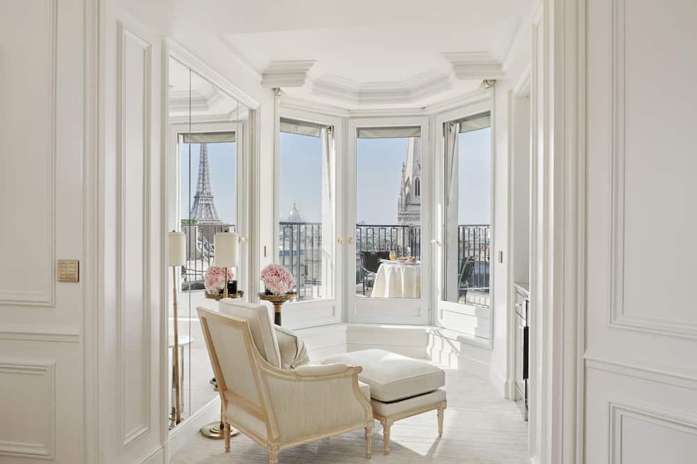 Suite, 1King-Bett, Turm (Eiffel Tower) - Wohnbereich