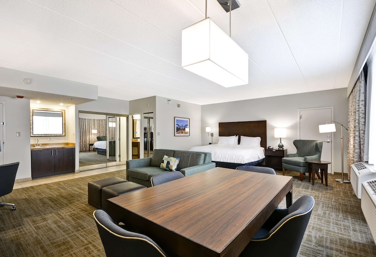 Hampton Inn Chicago/Naperville, Naperville, Suite, 1 King Bed, Non Smoking, Living Area