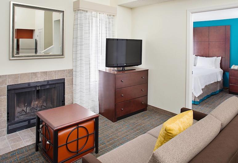 Residence Inn Seattle South/Tukwila, Tukwila, Studio, 1 giường cỡ queen, Không hút thuốc, Lò sưởi, Phòng